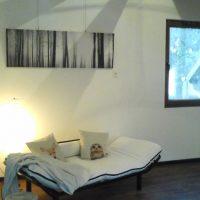 Sofa mit Ofen- & Seeblick